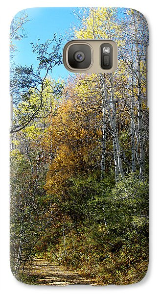 Galaxy Case featuring the photograph Along The Back Road by Vicki Pelham