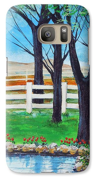 Galaxy Case featuring the painting Along The Lane by Dan Whittemore