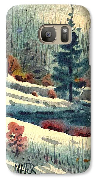 Galaxy Case featuring the painting Alpine Meadow by Donald Maier