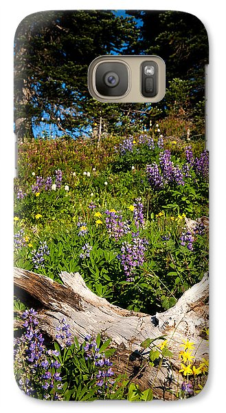 Galaxy Case featuring the photograph Alpine Wildflower Meadow by Karen Lee Ensley