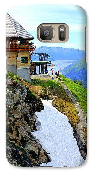 Galaxy Case featuring the photograph Alyeska Ski Resort Alaska by Kathy  White