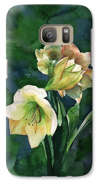 Galaxy Case featuring the painting Amaryllis by Sharon Mick