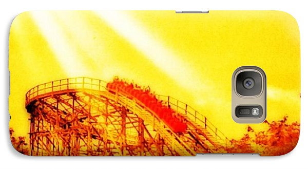 #amazing Shot Of A #rollercoaster At Galaxy S7 Case