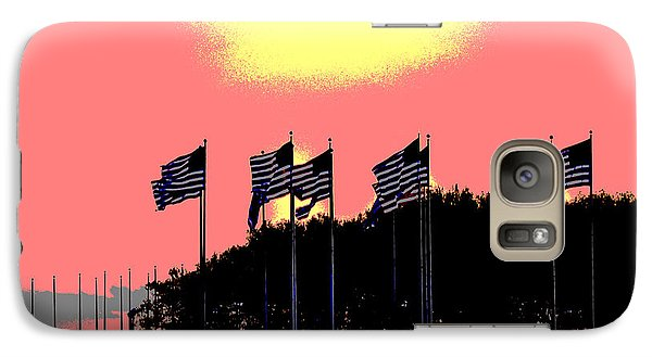 Galaxy Case featuring the photograph American Flags1 by Zawhaus Photography