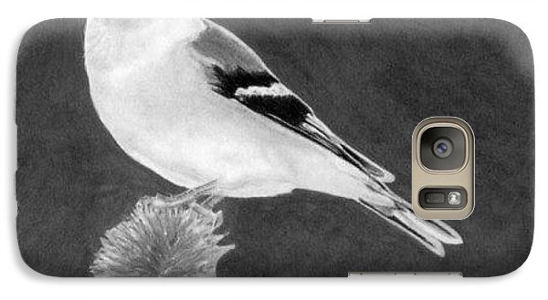 Galaxy Case featuring the drawing American Goldfinch by Ana Tirolese