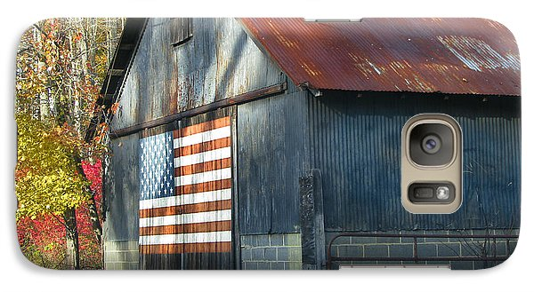 Galaxy Case featuring the photograph Americana Barn by Clara Sue Beym