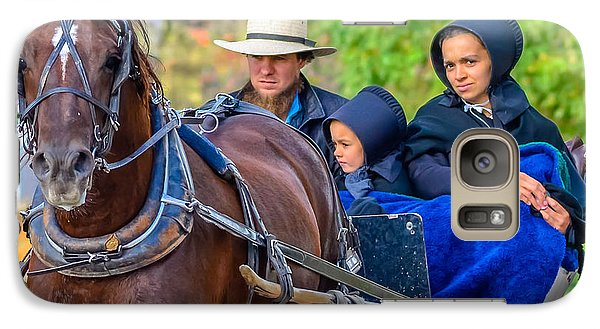 Galaxy Case featuring the photograph Amish Family by Brian Stevens