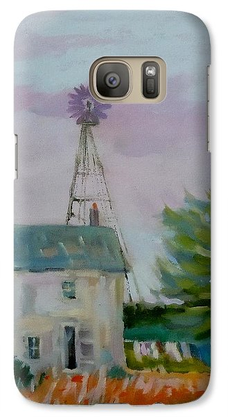 Galaxy Case featuring the painting Amish Farmhouse by Francine Frank