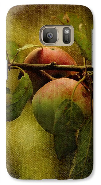 Galaxy Case featuring the photograph An Apple A Day by Kathleen Holley
