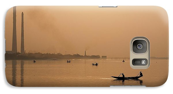 Galaxy Case featuring the photograph An Industrial Sunset by Fotosas Photography