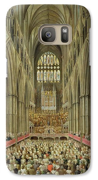 An Interior View Of Westminster Abbey On The Commemoration Of Handel's Centenary Galaxy S7 Case by Edward Edwards