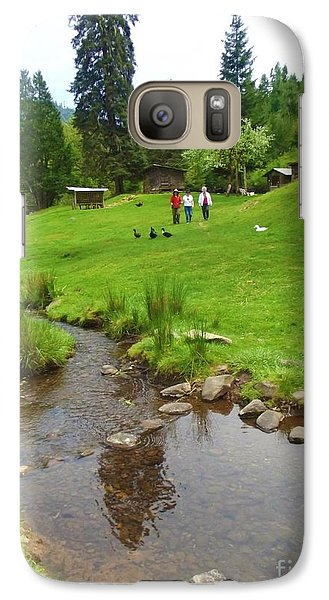 Galaxy Case featuring the photograph An Organic Farm Valerie's Place  by Mindy Bench