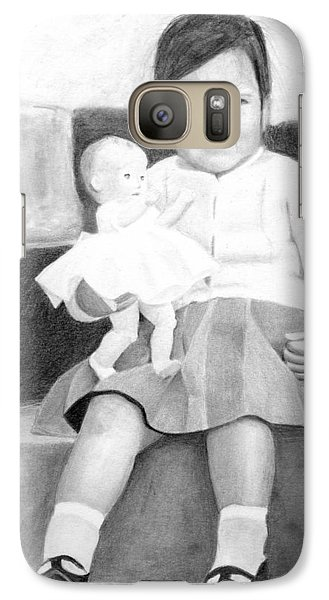 Galaxy Case featuring the drawing Ana With Dolly by Ana Tirolese