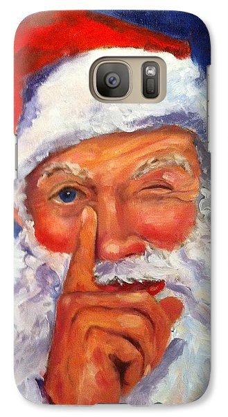 Galaxy Case featuring the painting And Giving A Wink by Carol Berning