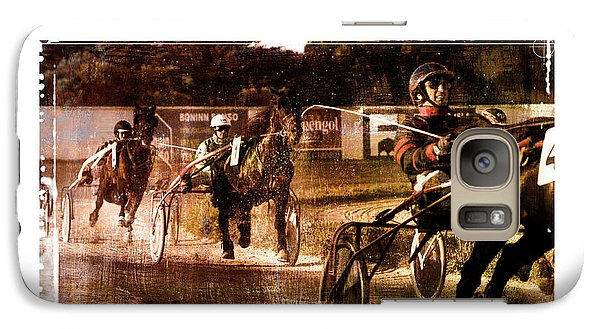 Galaxy Case featuring the photograph and the winner is - A vintage processed Menorca trotting race by Pedro Cardona