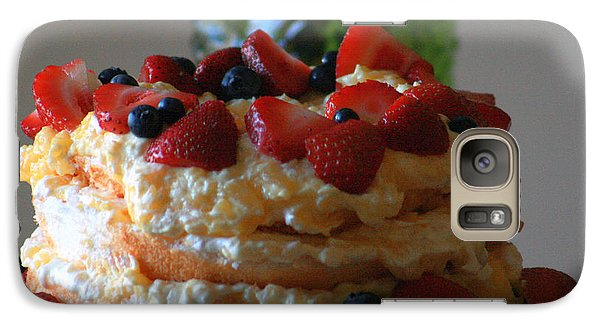 Galaxy Case featuring the photograph Angel Food by Kay Novy