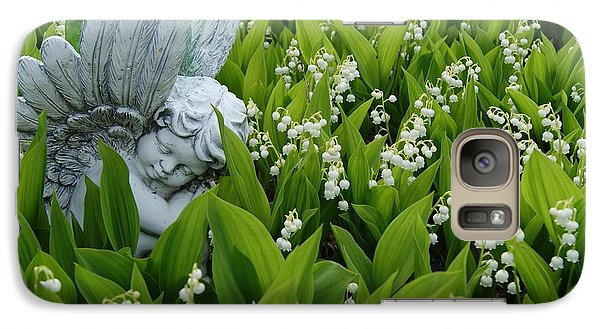 Galaxy Case featuring the photograph Angel In The Lilies by Steven Clipperton