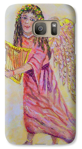 Galaxy Case featuring the painting Angel by Lou Ann Bagnall