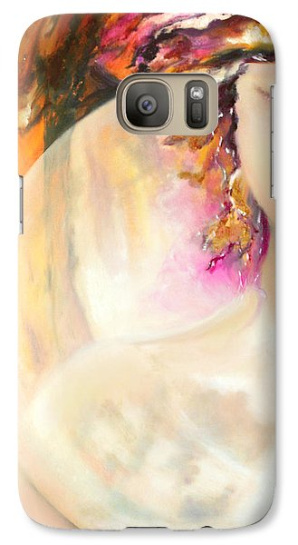Galaxy Case featuring the painting Angel Luna by Michael Rock