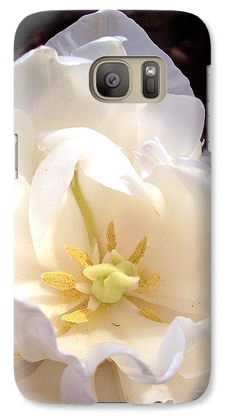 Galaxy Case featuring the photograph Angelic Tulip by Rebecca Overton