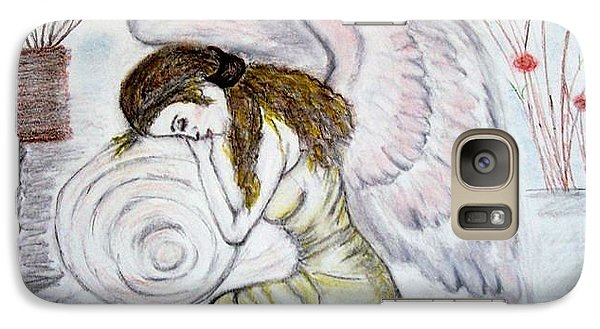 Galaxy Case featuring the drawing Angelshaven by Lori  Lovetere
