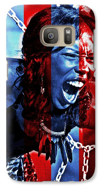 Galaxy Case featuring the photograph Anger In Red And Blue by Alice Gipson