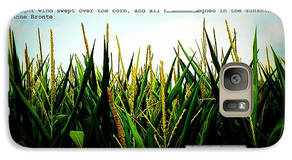 Galaxy Case featuring the photograph Anne Bronte's Cornfield by Robin Dickinson