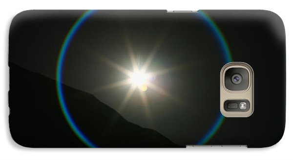 Galaxy Case featuring the photograph Annular Solar Eclipse - Blue Ring At Vasquez Rocks by Lon Casler Bixby