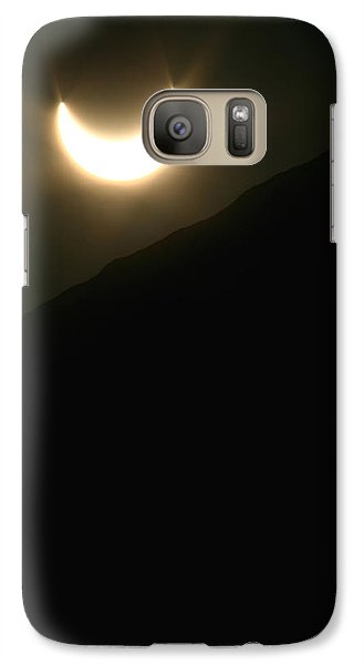 Galaxy Case featuring the photograph Annular Solar Eclipse At Sunset Number 1 by Lon Casler Bixby
