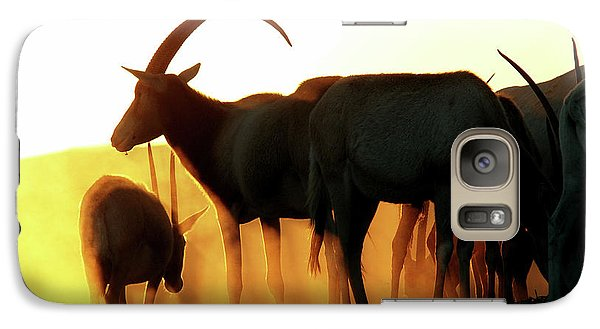 Galaxy Case featuring the photograph Antelope At Sunset by Arik Baltinester