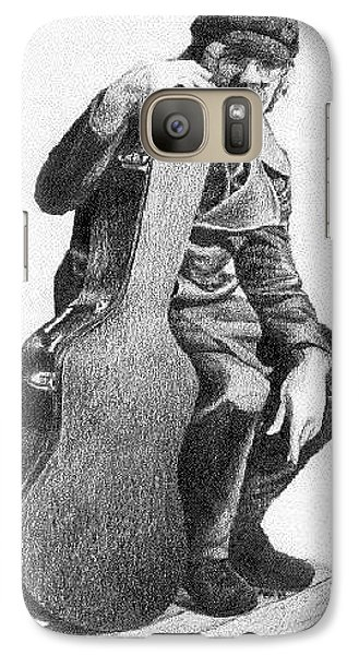 Galaxy Case featuring the drawing Anthony by Ana Tirolese