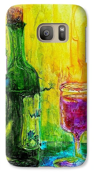 Galaxy Case featuring the painting Anticipation by Mary Kay Holladay