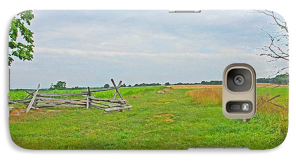 Galaxy Case featuring the photograph Antietam Battle Of The Cornfield by Cindy Manero