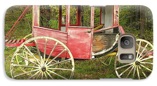 Galaxy Case featuring the photograph Old Horse Drawn Carriage by Sherman Perry