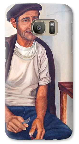Galaxy Case featuring the painting Antonio by AnnaJo Vahle