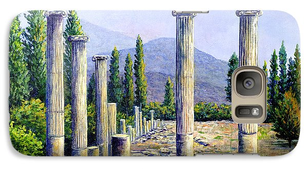 Galaxy Case featuring the painting Aphrodesias Ruins by Lou Ann Bagnall