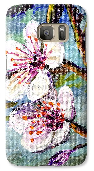Galaxy Case featuring the painting Apple Blossoms by Lou Ann Bagnall