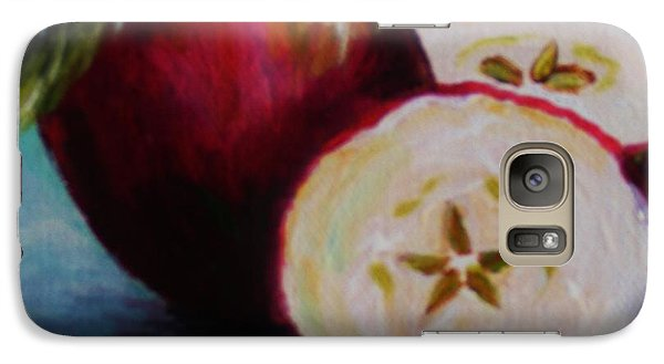 Galaxy Case featuring the painting Apple Magic by Karen  Ferrand Carroll