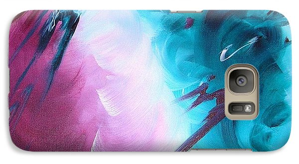 Galaxy Case featuring the painting Approaching Storm by Mary Kay Holladay