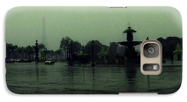 Galaxy Case featuring the photograph April Fog With Water Fountain by Louis Nugent