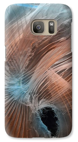 Galaxy Case featuring the photograph Aqua Amber Texture by Gillian Charters - Barnes