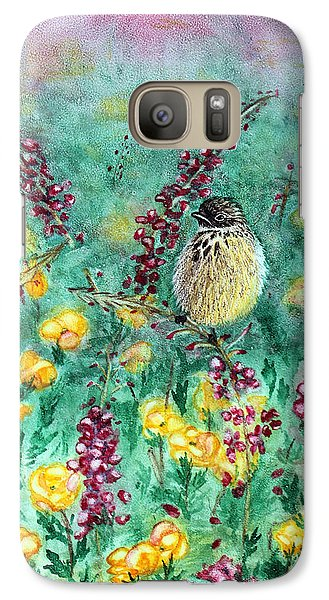 Galaxy Case featuring the painting Arizona Cactus Wren by Judy Filarecki