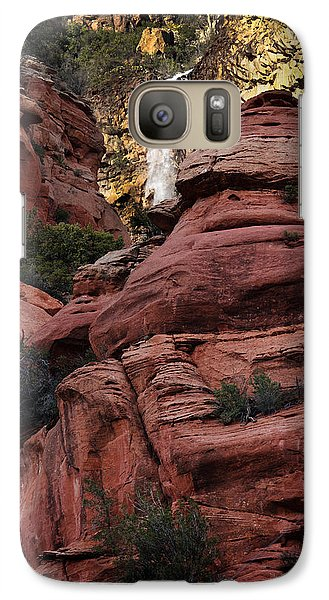 Galaxy Case featuring the photograph Arizona Red Rocks Waterfall by Karen Lee Ensley