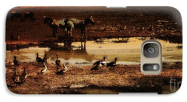 Galaxy Case featuring the photograph Around The Pond by Lydia Holly