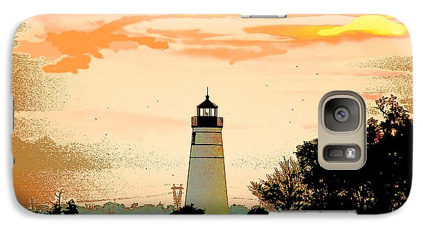 Galaxy Case featuring the photograph Artistic Madisonville Lighthouse by Luana K Perez