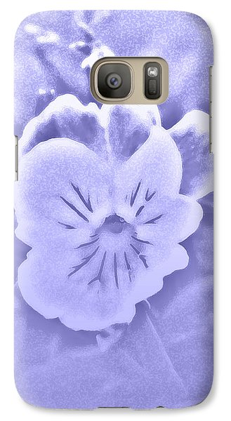 Galaxy Case featuring the photograph Artistic Pansy by Karen Harrison
