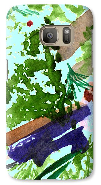 Galaxy Case featuring the painting Asian Garden  by Paula Ayers