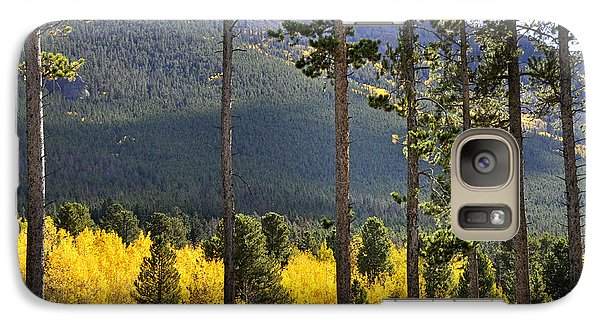 Galaxy Case featuring the photograph Aspen Heaven Long's Peak Area by Nava Thompson