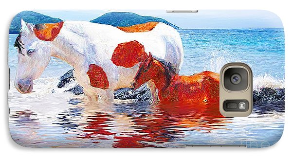 Galaxy Case featuring the photograph At The Beach by John  Kolenberg