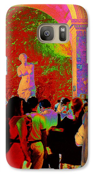 Galaxy Case featuring the photograph At The Louvre by Louis Nugent